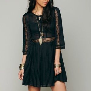 Free People Pere fit & flare lace dress size 2
